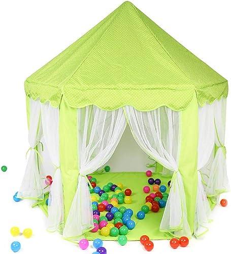 barato en alta calidad Tienda Princess Castle Castle Castle Play Tent Playhouse para Niños con Carpa Toys Juegos de Interior y al Aire Libre (Color   verde)  la mejor selección de