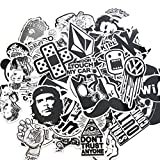 Yaxitu 60pcs Aléatoire Autocollants Snowboard Vintage Vinyl Skateboard Stickers...