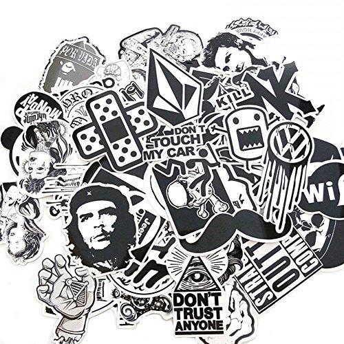 Yaxitu 60pcs Aléatoire Autocollants Snowboard Vintage Vinyl Skateboard Stickers Autocollant...