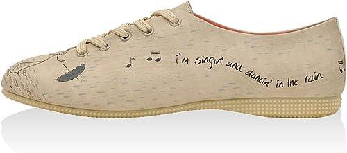 DOGO zapatos de Cordones In The Rain Beige EU 37
