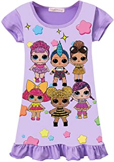 WNQY Surprise Princess Pajamas Girls Nightgown Dress for Doll Surprised