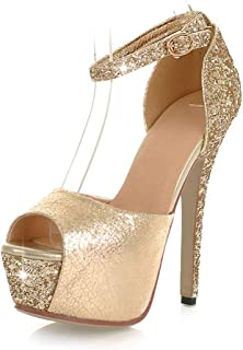 26299b1d7ae310 Amazon.com  Gold - Sandals   Shoes  Clothing