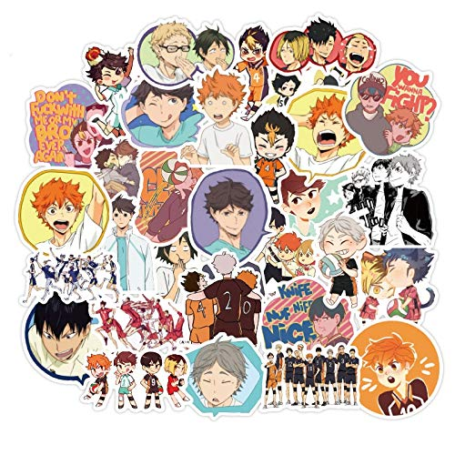 /Set Haikyuu!! Graffiti Stickers Volleyball Japanese Anime for Suitcase Laptop Luggage Motorcycle Phone Skateboard Car 50Pcs