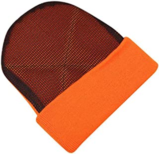 FYXKGLa Men's and Women's Knitted Hats Bboy Street Dance Hats and wear-Resistant mesh Heads Hip-hop Hats Street Warm hat (Color : Orange, Size : 56-58cm)