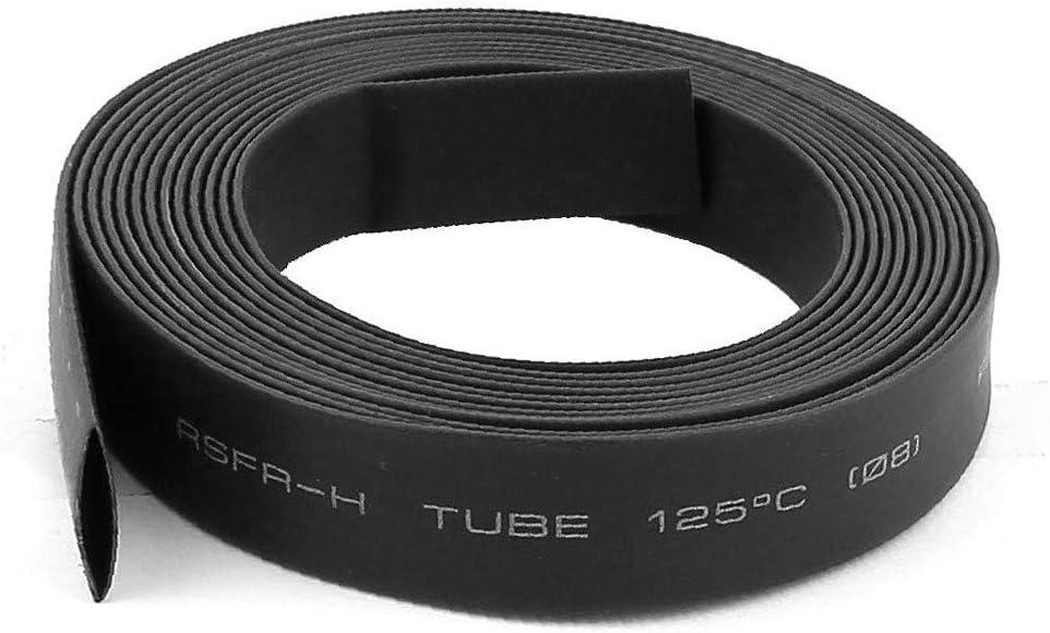 X-DREE Ratio 2:1 Black Max 54% OFF Polyolefin Overseas parallel import regular item Dia 8mm Shrinkable Shrink Heat