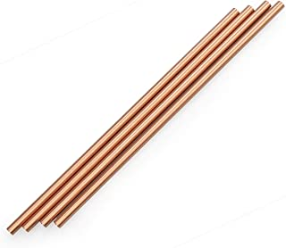 zeakko Copper Straw Cleaning Brush Included For Moscow Mule Mug (Set of 4), 8.5 inch,