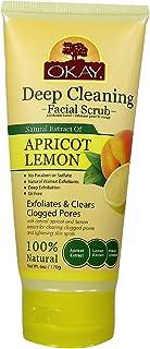Okay apricot & lemon facial scrub 6 ounce, Beige, 6 Ounce