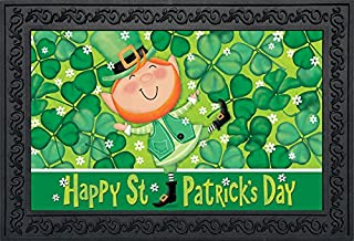 Briarwood Lane Lucky Leprechaun St. Patrick's Day Doormat Shamrocks Indoor Outdoor 18
