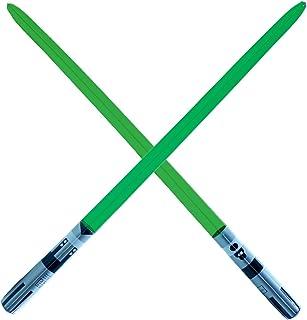 سيف سيف ضوئي ممتاز - أخضر بشفرة واحدة قابلة للنفخ، سيف ضوئي، حفلة، هدية، لعب حركة، سيف ضوئي بلو لوك يودا (أخضر 1 شفرة)