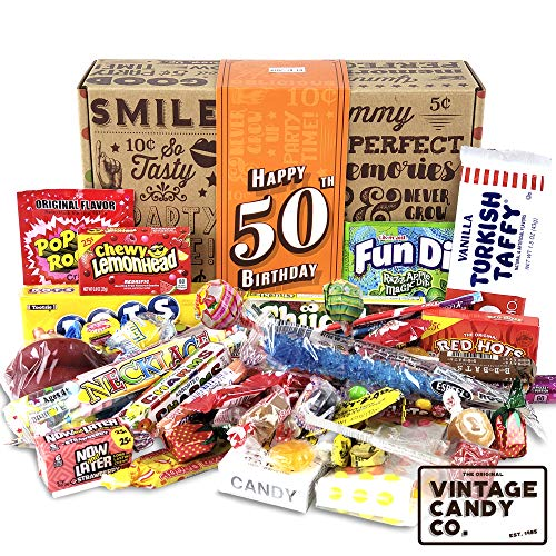 VINTAGE CANDY CO. 50TH BIRTHDAY RETRO CANDY GIFT BOX - 1971...