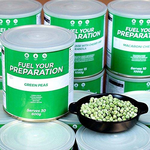 Grüne Erbsen - 25 Jahre MHD - Langzeitvorrat Notvorrat -Fuel your preparation, Green Peas 600g