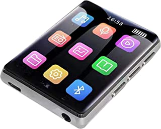 16GB MP3 Player with Bluetooth 5.0, 2.5'' Full Touch Screen Portable Music Player for Running with Line-In Recording,Silver