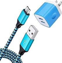 NINIBER USB Charging Block Brick + 6Ft Micro USB Cable Android Phone Cord Fast Charger Compatible Samsung Galaxy J7 Crown/J7 Star/J7 Prime/J7 Sky Pro/J7 Refine/J7 Pro/J7 Neo/J7v Prime,J3 Emerge