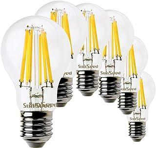 SunSeed 6x Bombilla Estándar Filamento LED E27 10W = 100W Blanco Neutro 4000K