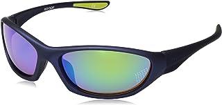 Body Glove Vapor 22 Polarized Wrap Sunglasses, Rubberized Matte Metallic Navy, 62 mm