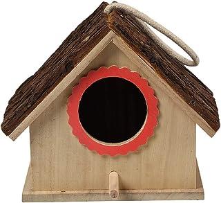 Large Bird House Wood Wooden Hanging Standing Birdhouse Outdoor Garden Decor