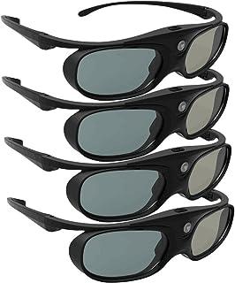 DLP Link 3D Glasses, ELEPHAS 144Hz Rechargeable Active Shutter Eyewear for Most DLP-Link 3D Projectors- Acer, ViewSonic, B...