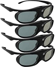 DLP Link 3D Glasses, ELEPHAS 144Hz Rechargeable Active Shutter Eyewear for Most DLP-Link..