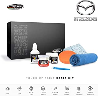 Color N Drive | Mazda 41V - Soul Red Metallic Touch Up Paint | Compatible with All Mazda Models | Paint Scratch, Chips Repair | OEM Quality | Exact Match | Basic