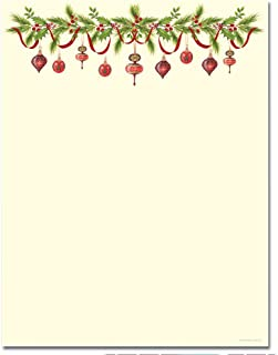 Christmas Stationery Grandma's Old Fashioned Ornaments Holiday Laser and Inkjet Printer Invitation Paper