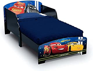 Delta Children Disney Cars Wooden Bed with Twinkle Toddler Mattress for Kids 3yrs to 15 yrs