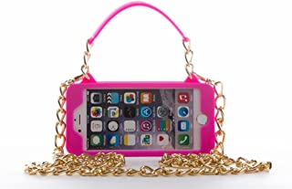 iPhone 6 Plus Case/iPhone 6s Plus Purse Case 5.5 inch Display pursecase Smartphone Case Wristlet Clutch and Crossbody Chain with Wallet Purse Case Bundle as seen on Shark Tank (Pink with Gold)