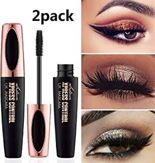 4D Silk Fiber Lash Mascara, Fiber Mascara,Extra Long Lash Mascara and Thick,Waterproof,Lasting All Day, Smudge Proof Eyelashes-2Pack