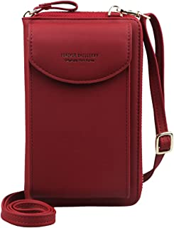 Jangostor Small Crossbody Bag Cell Phone Purse Wallet with Credit Card Slots for Women … (Red)