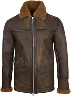 Aviatrix Men's Real Shearling Leather Fashion Jacket (PP74)