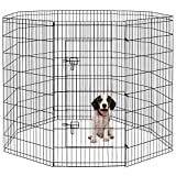 Pet Playpen Puppy Playpen Kennels Dog Fence 8Panels 48 Inch Pen Gate Fence Foldable Crate Kennels Options Ideal for Pet Animals Dog Cat Rabbit Breed Exercise Outdoor Indoor
