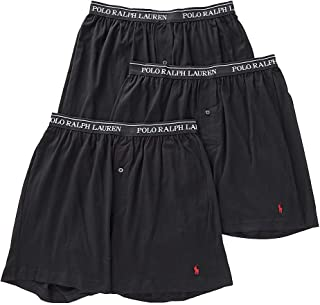Knit Boxer Shorts with Moisture Wicking 100% Cotton - 3 Pack (M, Black 3)