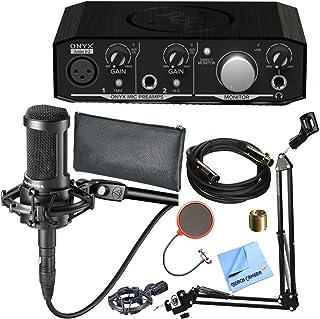 Mackie Onyx Artist 1-2 2x2 USB Audio Interface w/Audio-Technica AT2035 Microphone Bundle