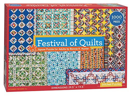 """Festival of Quilts Jigsaw Puzzle by Bonnie K. Hunter: 1000 Pieces, Dimensions 29.5"""" x 19.5"""""""