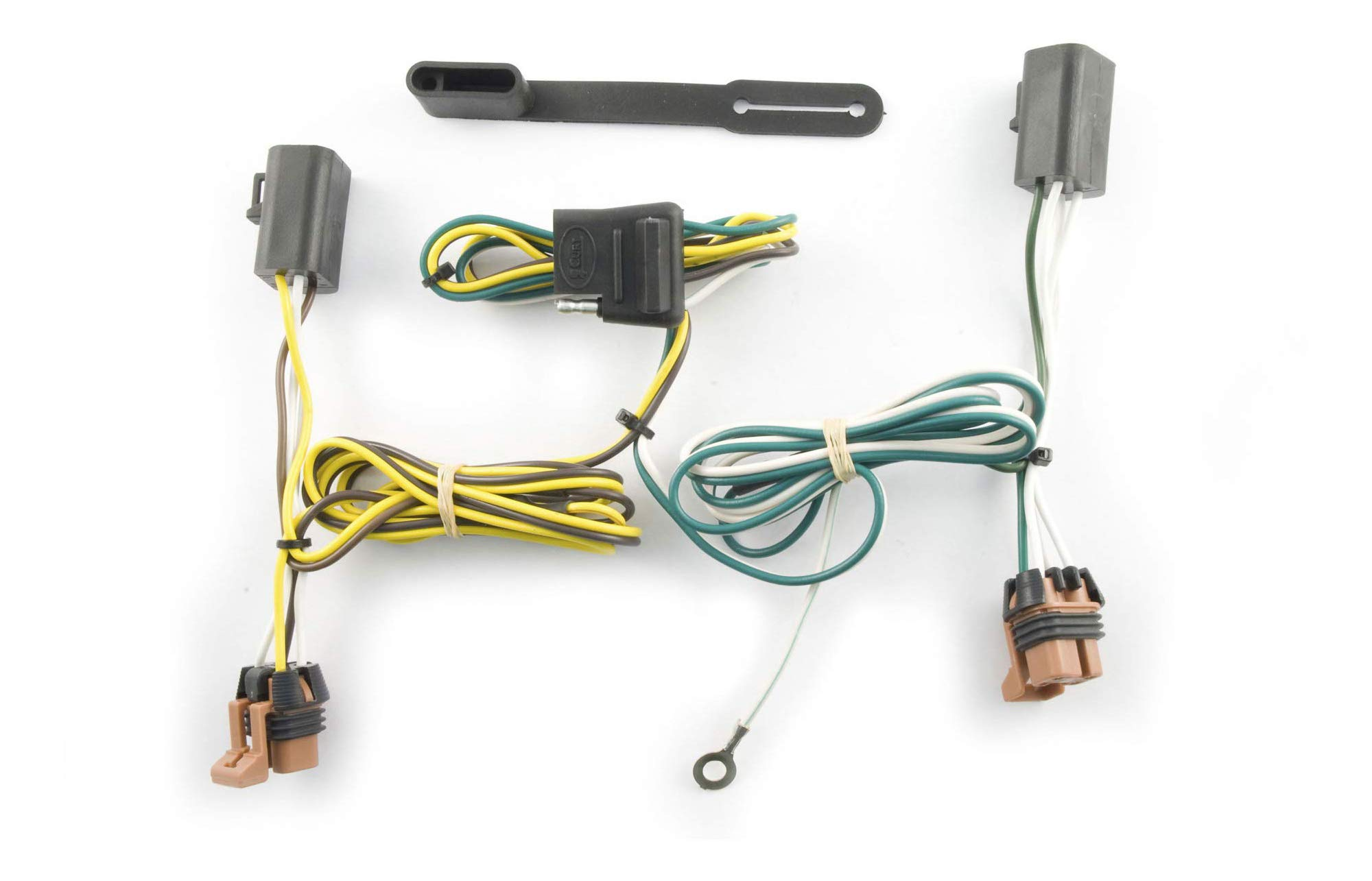 CURT 56072 7-Foot Vehicle-Side Truck Bed 7-Pin Trailer Wiring Harness Extension /& Cover Select Chevrolet GMC