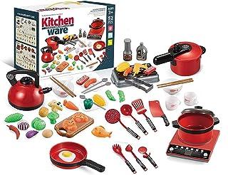 Simulering dockhus tillbehör elektriska köksartiklar leksak låtsas lek set realistisk matlagning set kökstillbehör matlagn...
