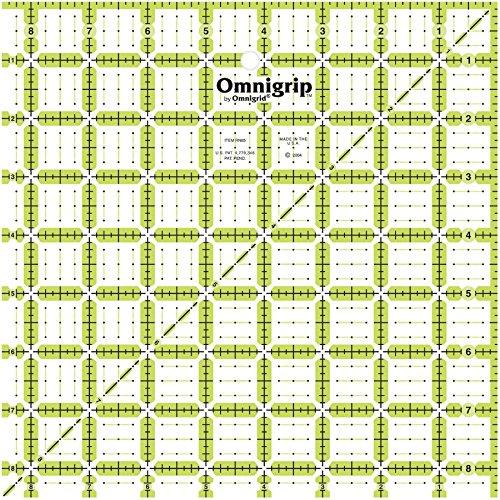 Dritz Omnigrip Non-Slip Quilter's Ruler-8-1/2 X8-1/2