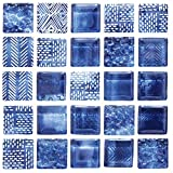 Self-Adhesive Decorative Glass Mosaic 3D Print Tile Stickers Peel and Stick Wall Tile Backsplash for...