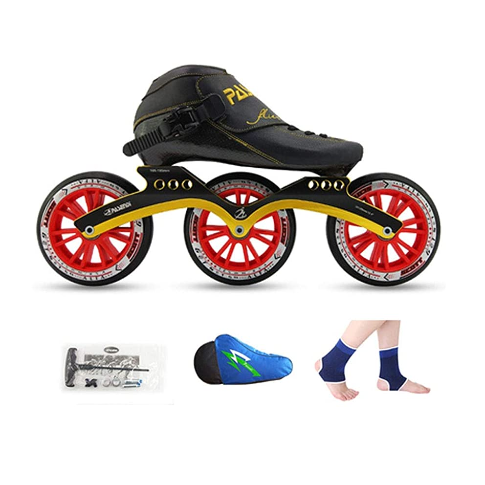 Inline Skates 3X125MM High Elastic PU Wheel Professional Thermoplastic Carbon Fiber Adult Single Row Skates 2 Colors The Wheel Does not Flash