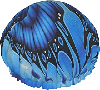 Motyl wodoodporna czapka prysznicowa z elastycznym obszyciem dwustronna konstrukcja do spania pod prysznicem czapka czepka...
