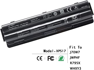 SLE-TECH Battery Compatible with Dell XPS 17 L701X/ L702X XPS 15 L501X/ L502X XPS 14 L401X J70W7 JWPHF R795X WHXY3
