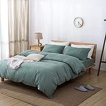 Pikowana narzuta na łóżko Umyta bawełniana narzuta narzuta z niewidocznym zamkiem Proste prześcieradła Intymna poszewka na...