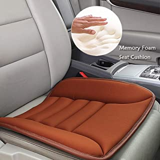 Big Ant Car Seat Cushion Pad Memory Foam Seat Cushion,Pain Relief Memory Foam Cushion Comfort Seat Protector Perfect for Car Office Home Use,Tan(1PC)