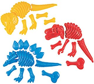 Fun Express Large Dinosaur Fossil Sand Molds - 3 Fossil Molds - Beach Toys and Sand Molds