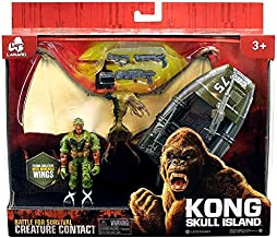 Lanard King Kong Kong Skull Island Creature Contact Pterodactylus, Boat & Figure Playset