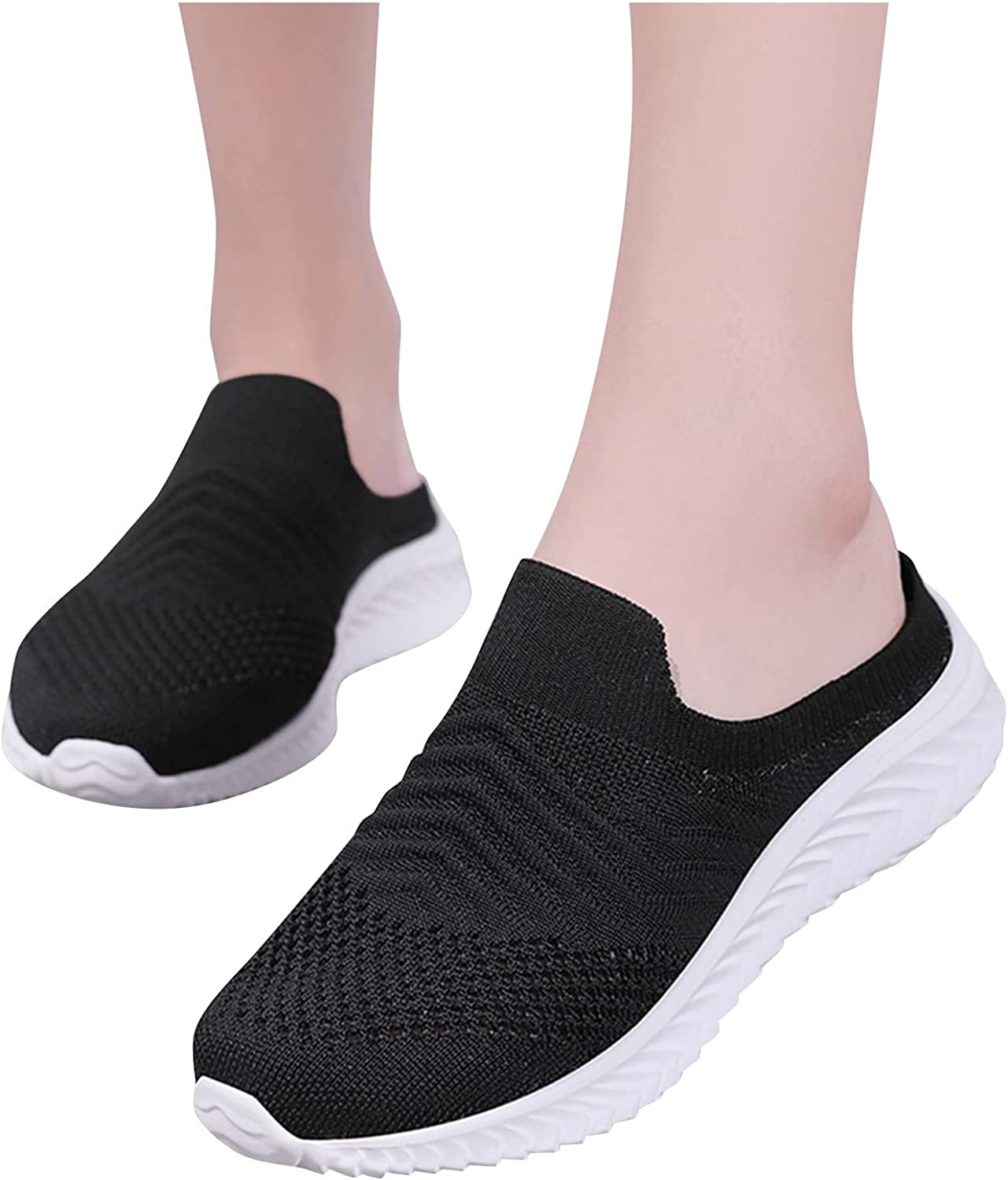 Aniywn Womens Sneakers Lightweight Breathable Slip On Shoes Running Shoes Non Slip Workout Walking Tennis Sneakers