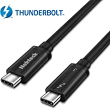 Nekteck Thunderbolt 3 Cable, 100W 40Gpbs Thunderbolt 3 Certified USB C Cable Compatible with New MacBook Pro, ThinkPad Yoga, Alienware 17 and More, 1.6ft