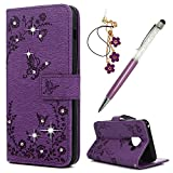 Maxfe.co Case for Samsung Galaxy A8 2018 Wallet Bling Shiny
