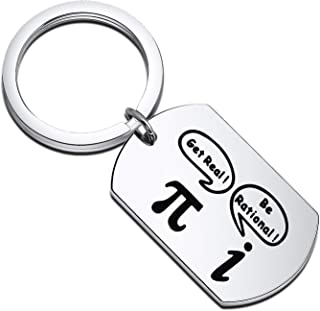 Gzrlyf Math Keychain Get Real Be Rational Funny Math Gifts for Math Geeks Math Nerds Math Teachers Students Engineer