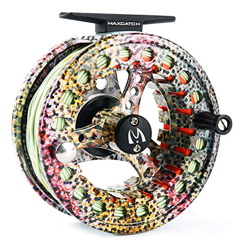 M MAXIMUMCATCH Maxcatch ECO Fly Reel Large Arbor with Diecast Aluminum...
