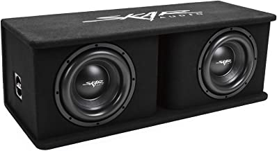 dual 10 inch subwoofer in box